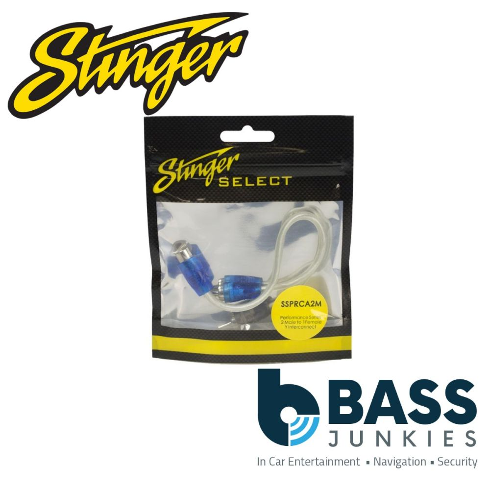 Stinger Select SSPRCA2M Performance Series 2 Male to 1 Female Y Interconnect